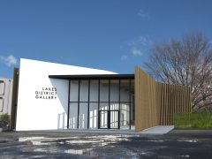 Lakes District Gallery exterior render of art gallery entrance