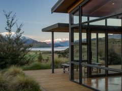 Buchanan Rise House exterior large glazing with verandahs