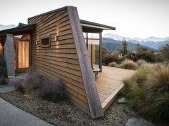 Buchanan Rise House exterior horizontal cedar dividing wall