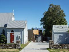 St Columba Church with Wanaka Community Hub in background
