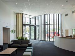 Wanaka Community Hub interior foyer with large windows