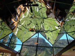 Puzzling World Wanaka interior ceiling glass reflection