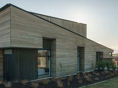 Bargour Residence exterior house with cedar cladding
