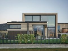 Bargour Residence exterior front elevation house with cedar cladding