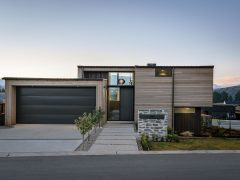 Bargour Residence exterior front elevation house and garage