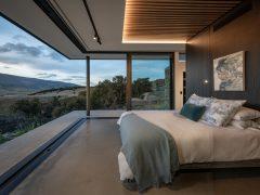 Bendigo Terrace House interior bedroom with open sliding doors