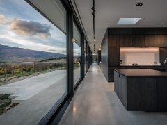 Bendigo Terrace House interior kitchen with large windows